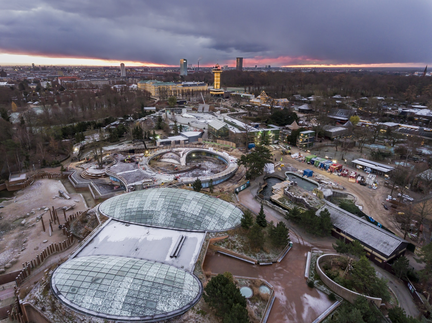 Drone photography from Copenhagen ZOO. Photo: Claus Falkenberg Thomsen