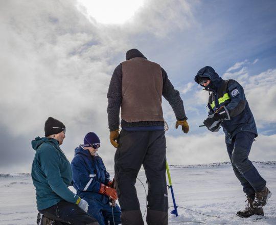 Feltarbejde på isen