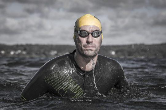 Fotografi fra et træningspas i Esrum sø.