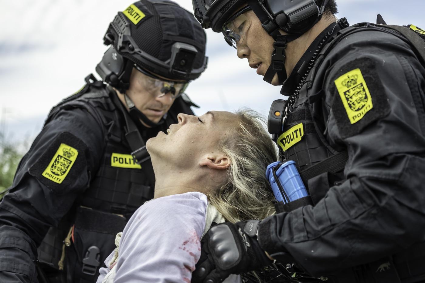 Træning i førstehjælp ved Politiet.