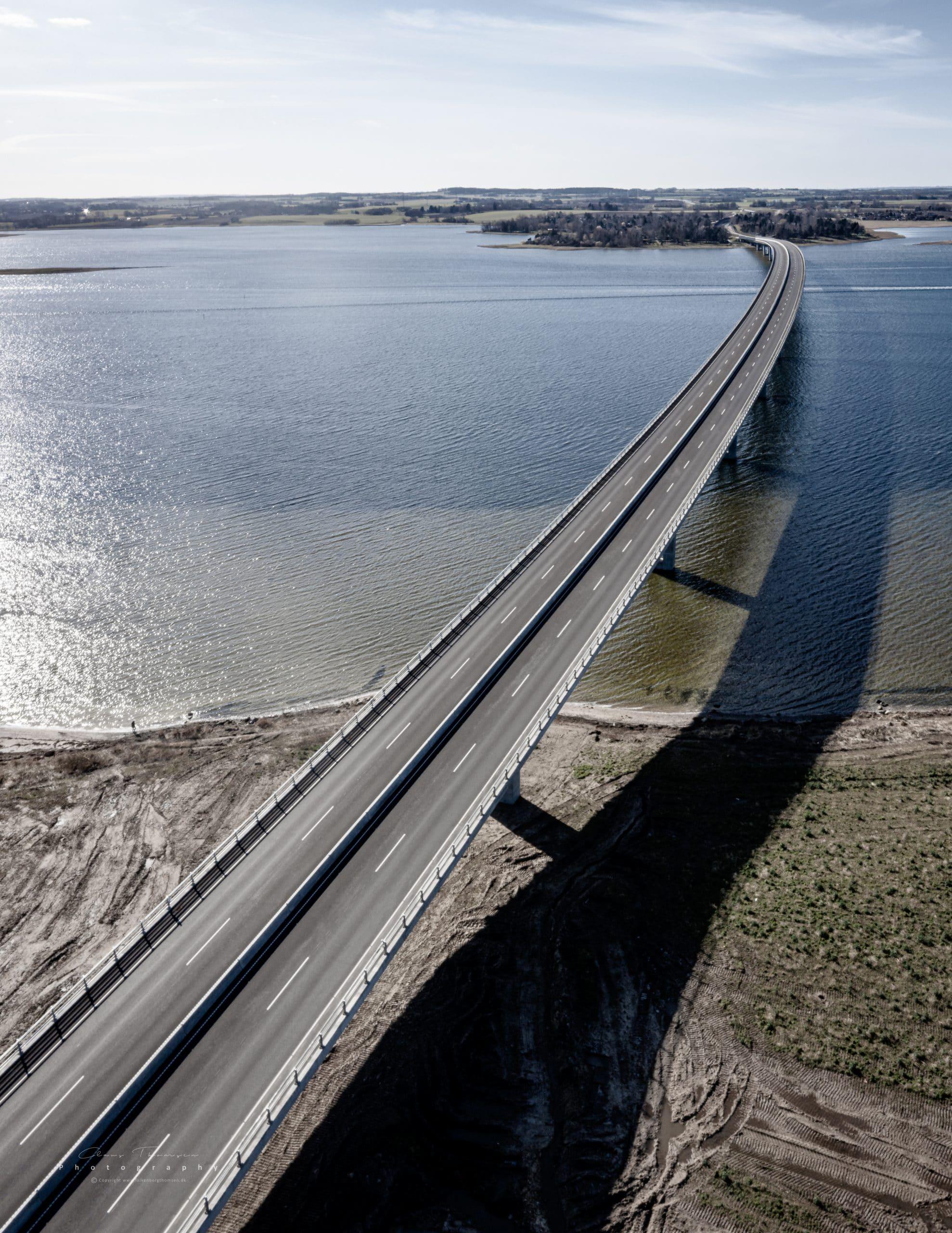 Dronefotografi af Kronprinsesse Marys bro