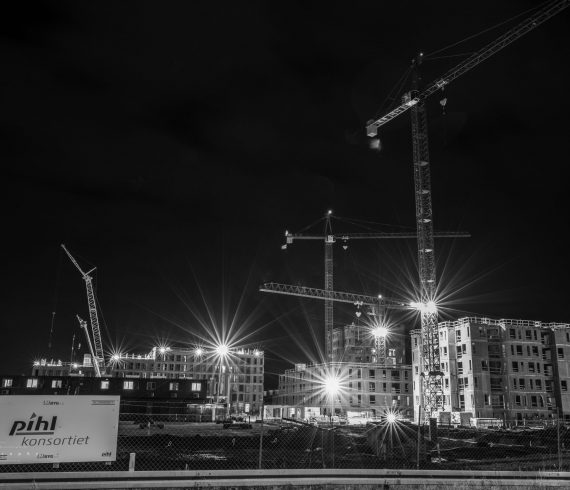Fotografi af det kommende Frederiksbro i Hillerød