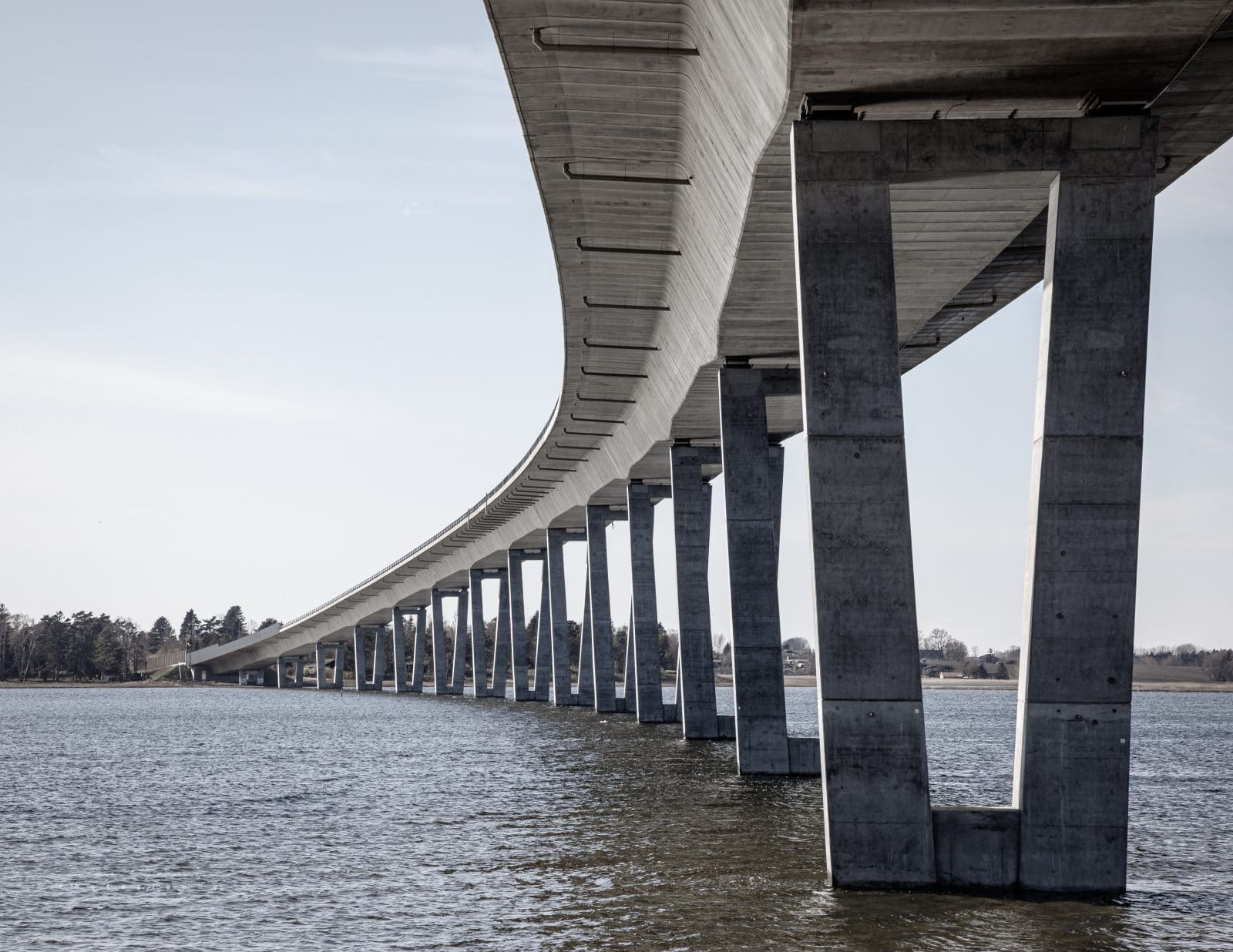 Crown Princess Mary's Bridge crosses Roskilde Fjord and connects Frederikssund and Hornsherred.