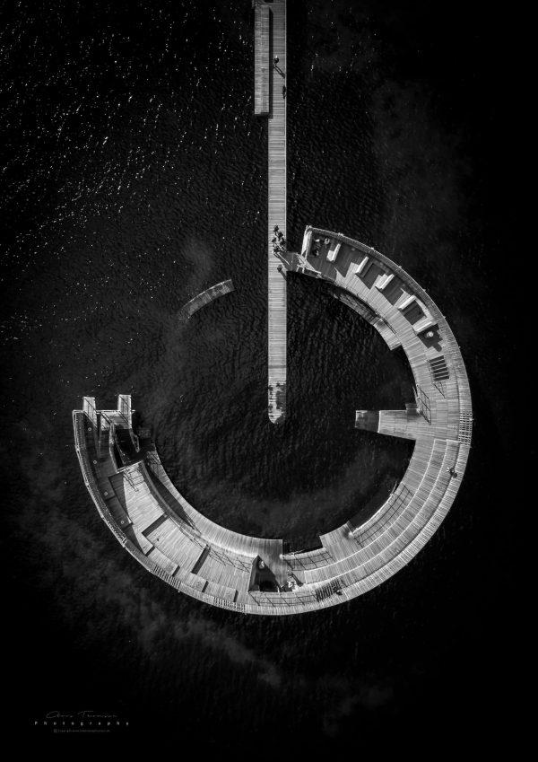 Dronefotografi af Kastrup Søbad.