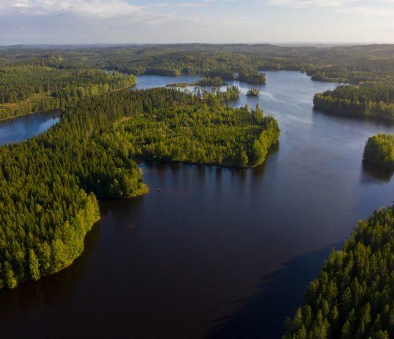 Floden Ätran ved Mårdaklev, Sverige