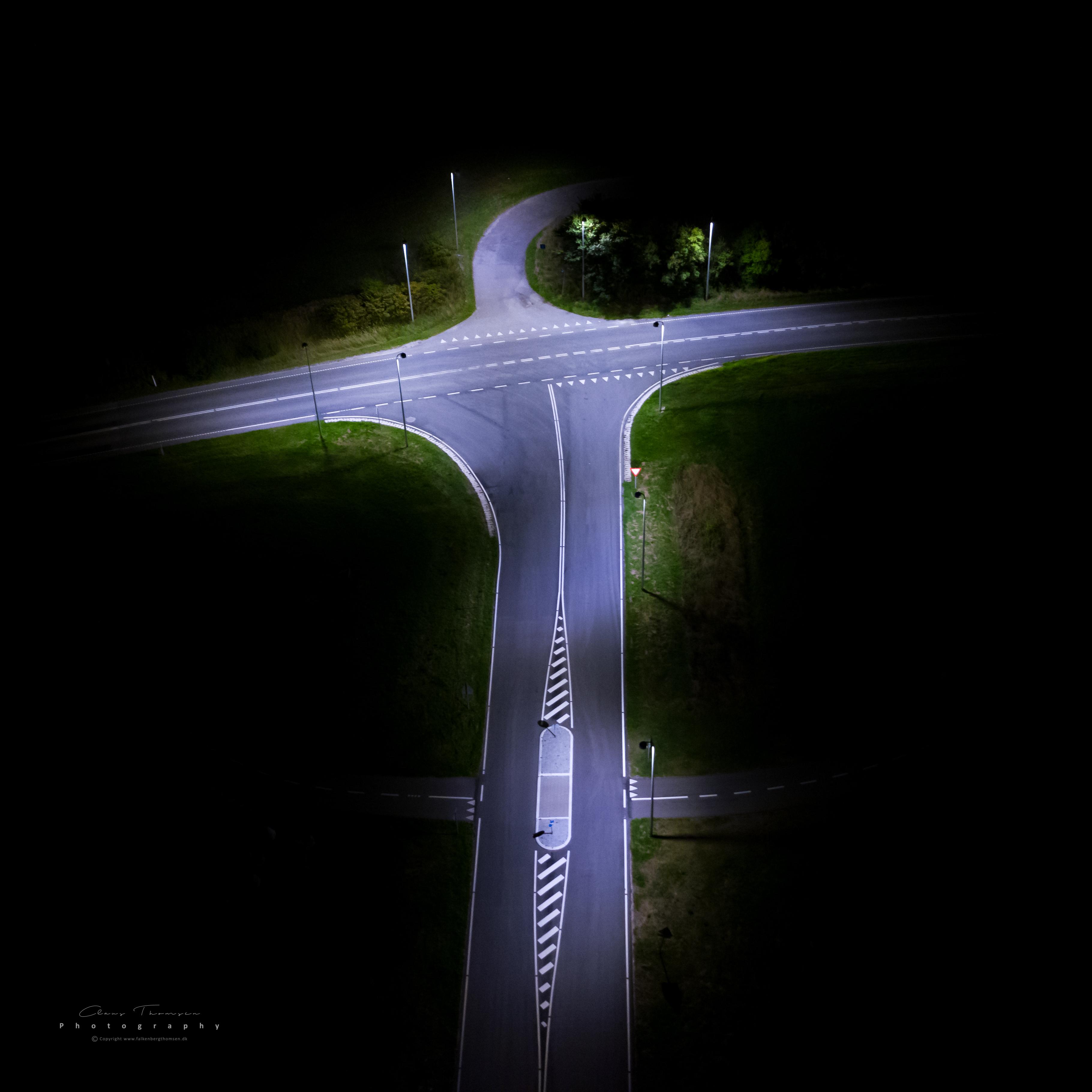 Langtidseksponeret fotografi af Lyngevej